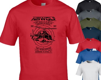 48887edf5 Airwolf, T-Shirt Design, perfect gift for M/F/Y sizes 7 Colours
