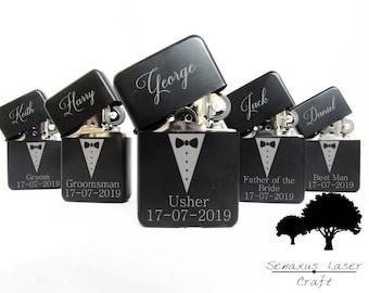 Groomsmen Lighter Gift, Personalised Lighter perfect for groomsmen ushers Best men And many more. lgt9