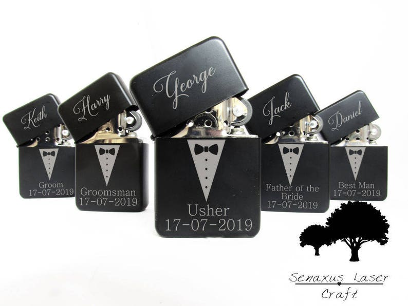 Groomsmen Lighter Gift Personalised Lighter perfect for image 0