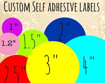 Printed labels | Etsy