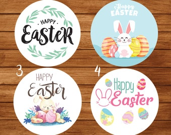 12//24 Happy Easter Eggs Labels /& Sweet Cones DIY Kit Stickers Easter Labels