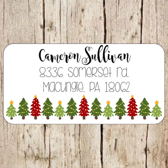 christmas return address labels christmas return address etsy