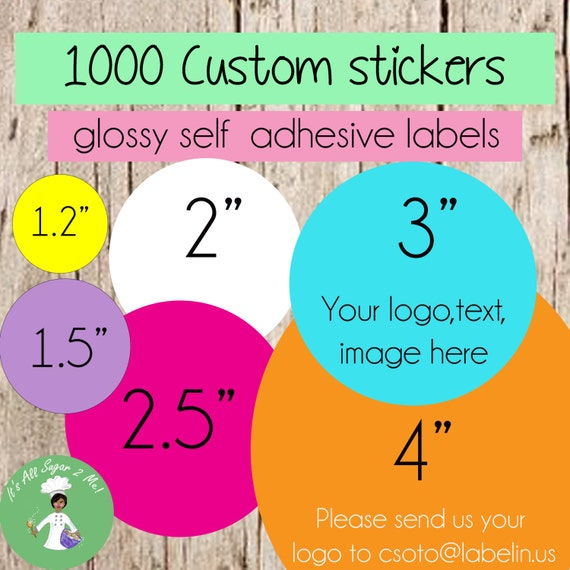 1000 Custom Stickers Circle Stickers Round Stickers Custom Labels Personalized Stickers Bulk Stickers Logo Stickers Product Labels Soap