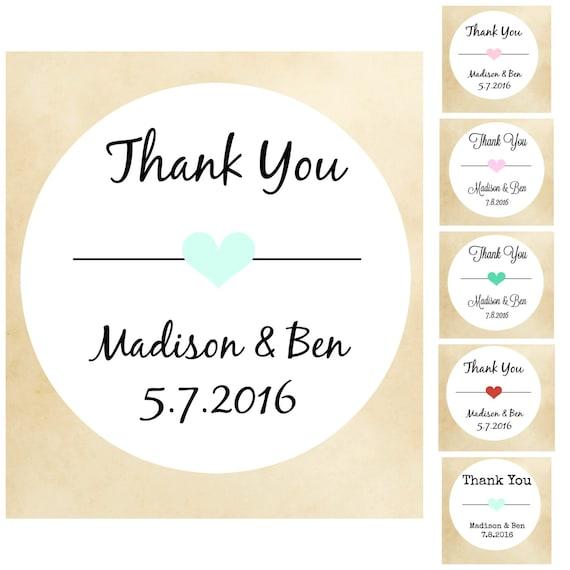 Thanks you stickers wedding stickers wedding labelsfavor stickerspersonalized wedding stickers custom wedding favor stickerscustomized from labelin on