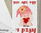 You Are my #1 Bish Funny Friendship  Card