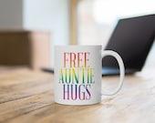 Free Auntie Hugs White Ceramic Mug