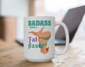 Bada** Fat Positive Yoga Woman Mug