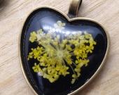 Floral Heart Pendant Necklace