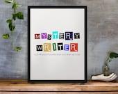 Mystery Writer Wall Art Printable