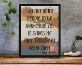 Jane Austen Quote Wall Art Printable