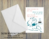 Never Apologize For Your Body Self-Acceptance/Size Acceptance/Body Acceptance Card  (Blank Inside) (A6) (ITEM# C49)