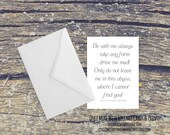 Be With Me Always Wuthering Heights Quote Romantic Card (C100)