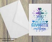 Favorite Earthling Friendship Card