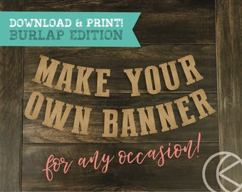 make your own banner etsy