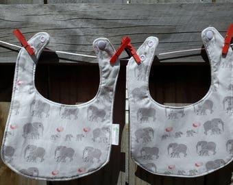 Baby Bib - Elephant Grey