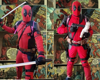 Deadpool Cosplay / Costume or Motorcycle Suit Replica, in Cordura/Leather or Full Leather  **Movie Release Price Drop**
