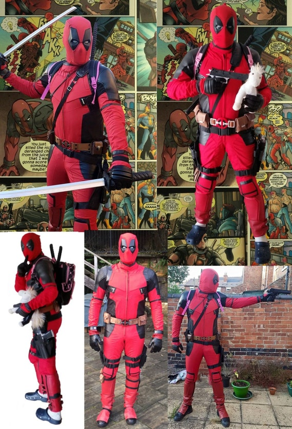 Deadpool Cosplay / Costume Accessories Pack (Replica) - (Suits Patterned Stretch Suit) RQn8i3CVj