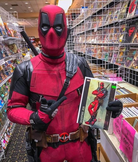41770d0a5e1163 Weathered Deadpool cosplay/strój kostium replika: wykonane z | Etsy