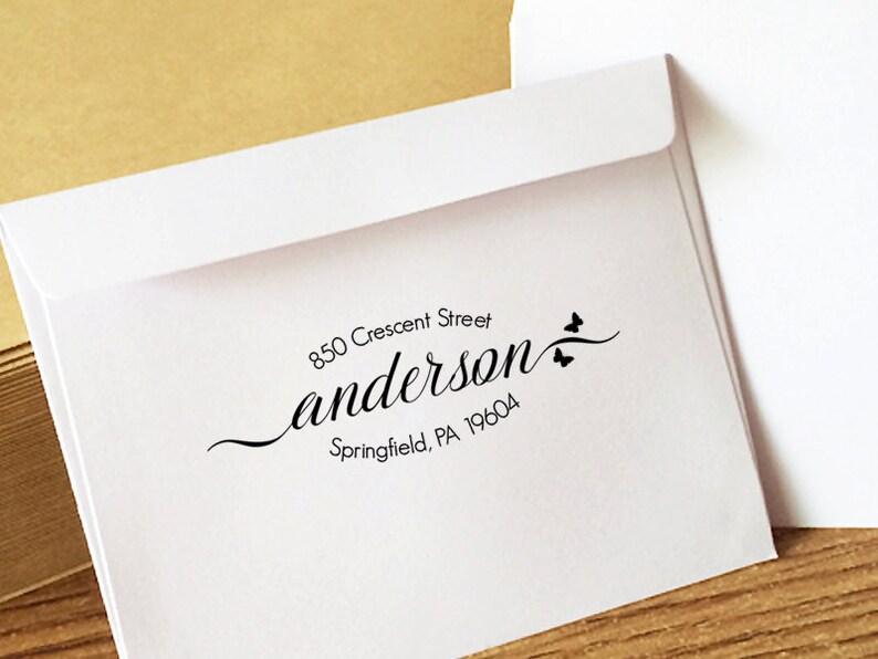 Return Address Stamp Custom Address Stamp Self Ink Custom Address Stamp Personalized Return Address Stamp