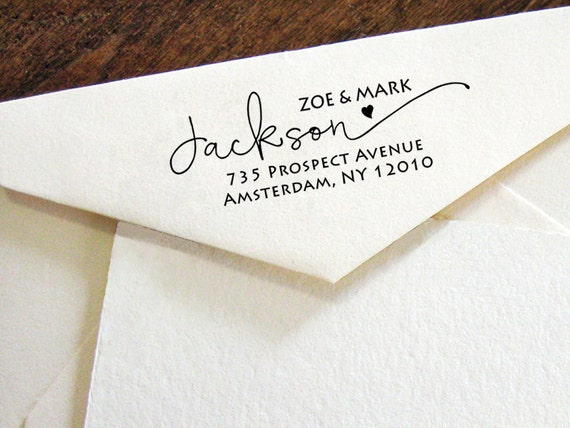 personalized return address stamp return address stamp etsy