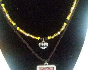 Batman multi strand necklace