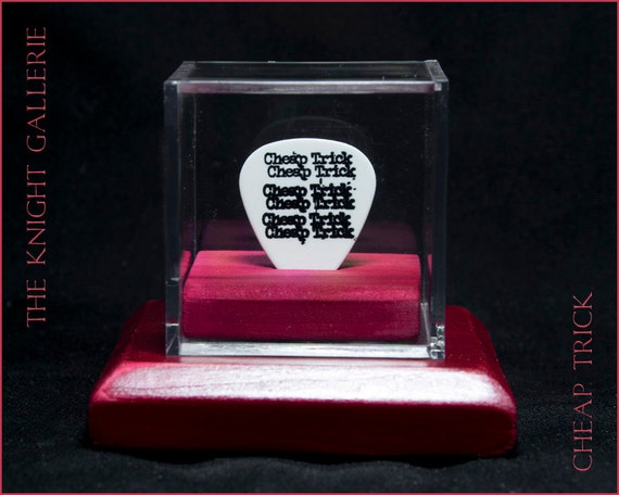 cheap trick commemorative guitar pick and display case etsy