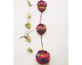 Crochet PATTERN! Tiered Air Plant Hanger Pattern   Crochet Pattern Air Plant Home   Crochet Tiered Basket