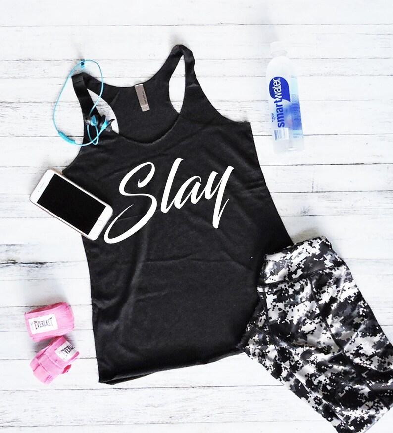 Gym Shirt Workout Shirt Womens Fitness Tank Tops Yoga Shirt Slay Tanks with Sayings Workout Tank Top Fitness Tank Top