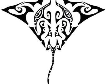 Manta ray art | Etsy