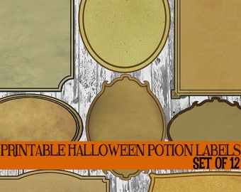 diy halloween bottle label printables halloween potion etsy