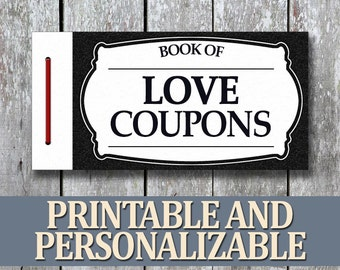 Printable Love Coupon Book Birthday Gift For Boyfriend Homemade Anniversary Man Last Minute Husband Him
