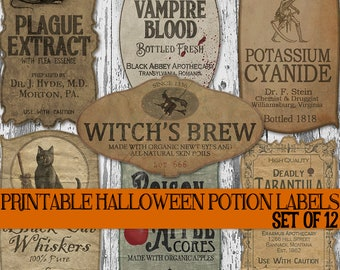 picture regarding Free Printable Apothecary Labels named Apothecary labels Etsy