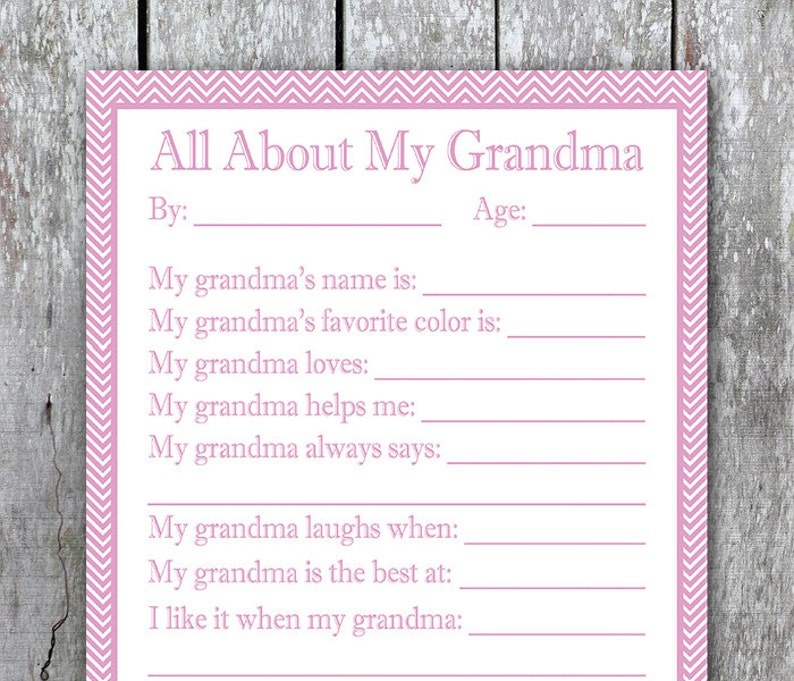 photo relating to All About My Grandma Printable identify All In excess of My Grandma Printable, Children Moms Working day Present for Grandma Birthday, Past Instant Present, Do it yourself Mother Working day Present, Grandmother Reward in opposition to Youngsters