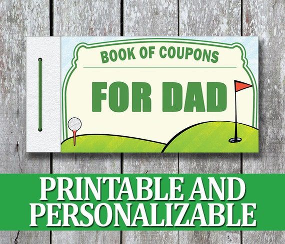 Printable Love Coupon Book Diy Christmas Gift For Dad Dad Etsy