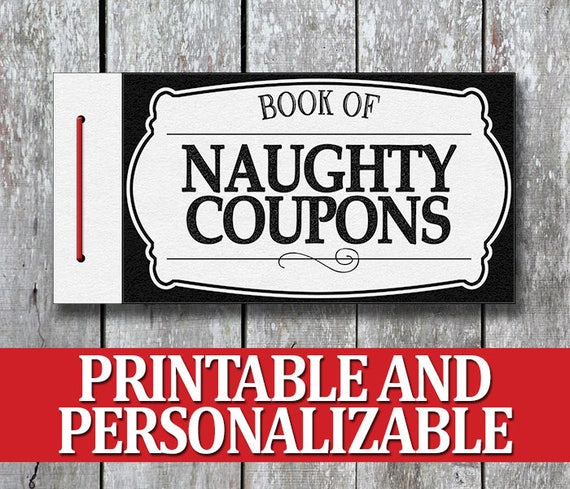 Printable Naughty Coupon Book Valentine Gift For Man Last