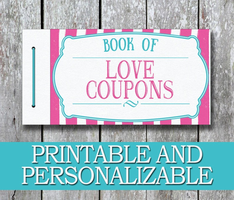 Printable Love Coupon Book DIY Valentine Gift For Her