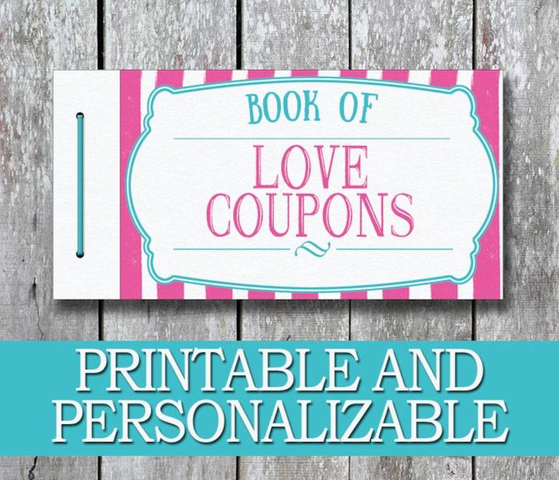 Printable Love Coupon Book DIY Birthday Gift For Her