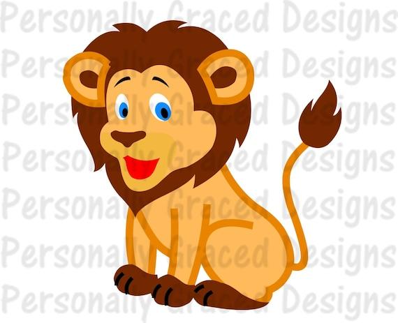 Svg Dxf Eps Cut File Cute Lion Svg Silhouette Cut File Etsy