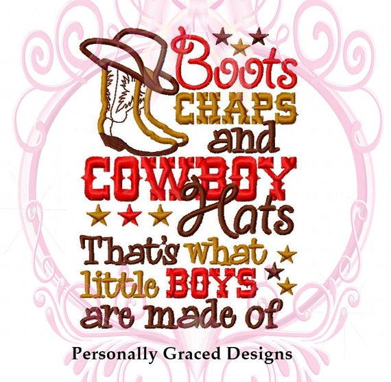 Instant Download Boots Chaps and Cowboy Hats Little Boys Are  d81f9ec3acff