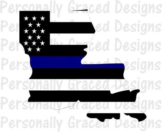 Svg Dxf Eps Cut File Louisiana State Flag Thin Blue Line