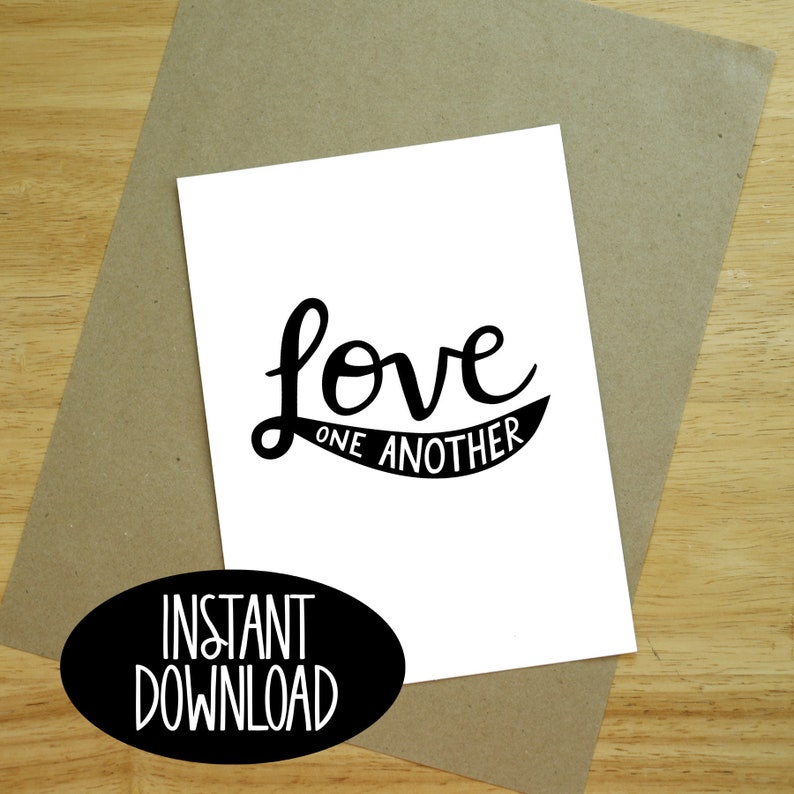 graphic relating to Love One Another Printable identified as Delight in A person A different Printable