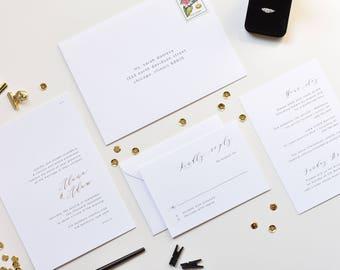 gold foil invitation etsy
