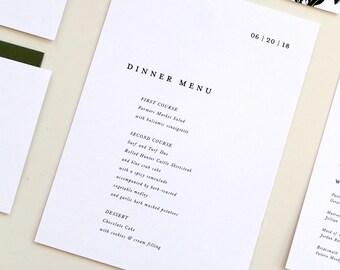 custom wedding menu card diy printable pdf or handmade etsy