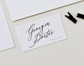 calligraphy place cards calligraphy escort cards custom place cards wedding escort cards folded place cards place card escort cards - Custom Place Cards