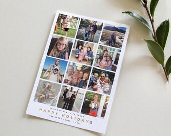 Instagram Christmas Card, Instagram Photo Christmas Card, Holiday Card, Photo Holiday Card, Instagram Photos, Simple Christmas Card Design