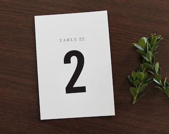 Wedding Table Numbers | Custom Table Number, 5x7 Table Number, Wedding Reception Table Number, Simple Table Number