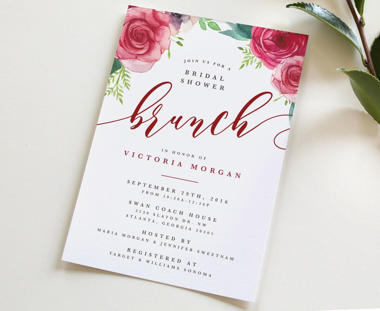 Bridal Shower Brunch Invitation Bridal Shower Invitation | Etsy