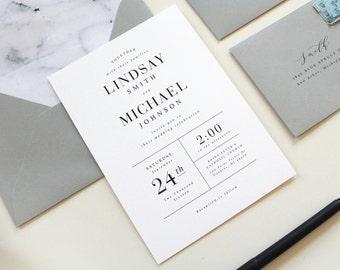 Modern Wedding Invitations,  Marble Wedding Invitation, Simple Wedding Invitations, Marble Wedding Invite, Marble envelope liner