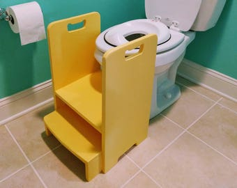 Get Up And Go Potty Helper Two Step Stool Has 4 Handles For Etsy