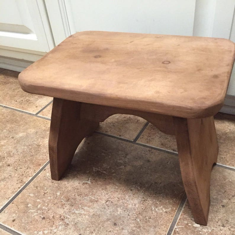 Groovy One Step Stool Stained With Apple Cider Vinegar Coffee Grounds Finished With Beeswax Olive Oil Rub All Natural Inzonedesignstudio Interior Chair Design Inzonedesignstudiocom
